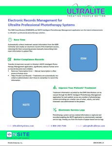 Electronic Records Management for Ultralite Professional Phototherapy Systems